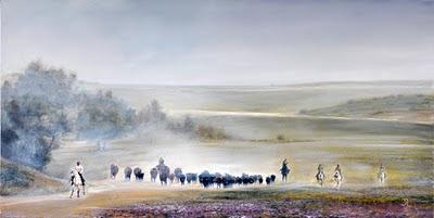 Cambio de pastos del pintor gaditano José Antonio Rodríguez