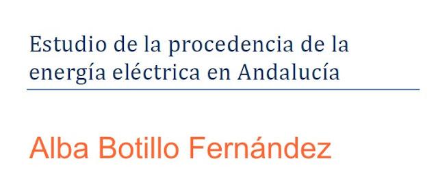 Procedencia de la energía eléctrica en Andalucía