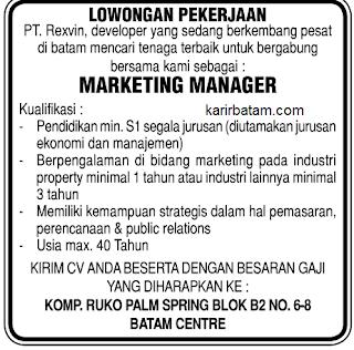 Lowongan Kerja PT. Rexvin Indonesia