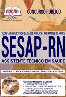 Comprar Apostila SESAP 2018 Assistente Técnico em Saúde
