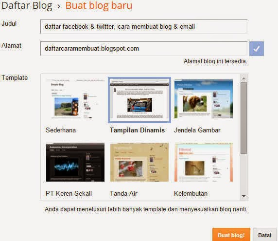 Membuat blog gotong royong sangatlah gampang akan tetapi tidak sedikit juga yang masih galau Kabar Terbaru- Cara Membuat Blog Gratis Di Blogger   Blogspot Terbaru 2015