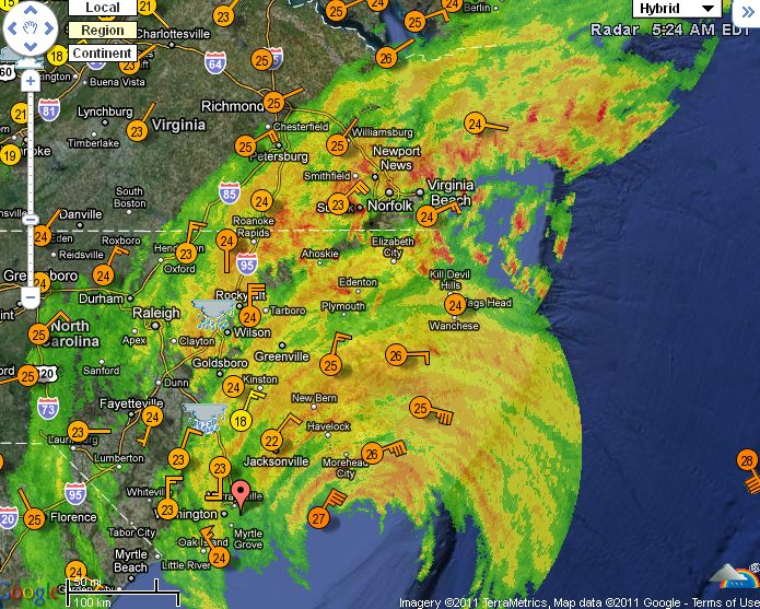 HD Decor Images » S A  Weather and Disaster Information Service  South Africa     WeatherUnderground live map updates  Hurricane Irene