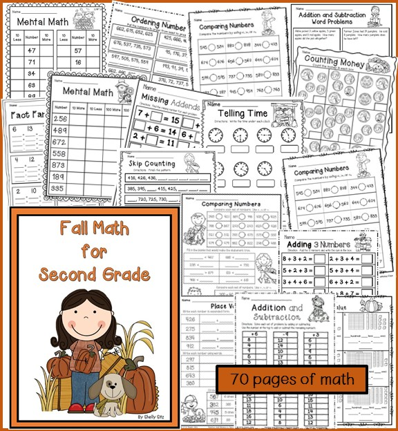 Fall Math for second Grade