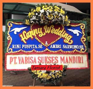 bunga ucapan perkawinan jakarta timur