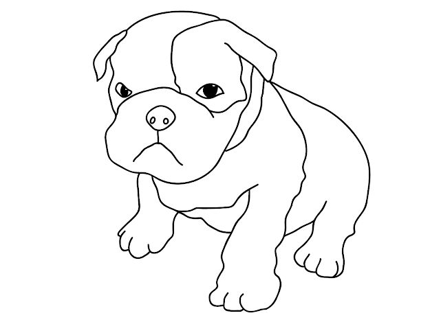 Free Printable Dog Coloring Pages For Kids For Dog Coloring Pages