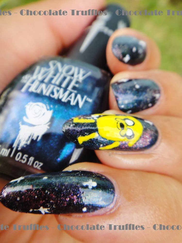 Chocolate Truffle Nails Chocolate Truffles X Adventure Time Space Jake Nails Nail Art Tutorial