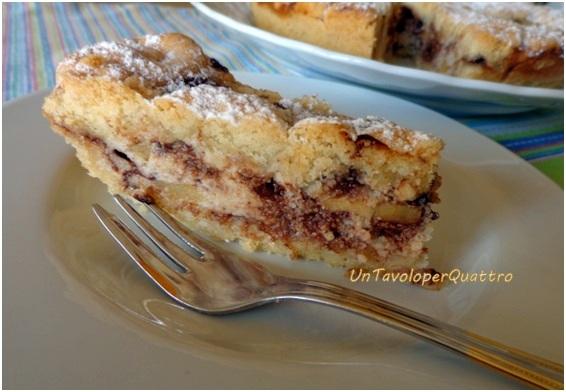 Ricetta torta con ricotta pere e cioccolato