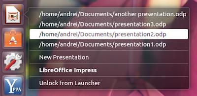 Ubuntu RecentQuicklists