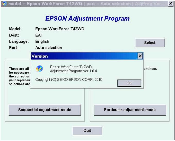 Epson T42WD (EAI) Ver.1.0.4 Resetter Download