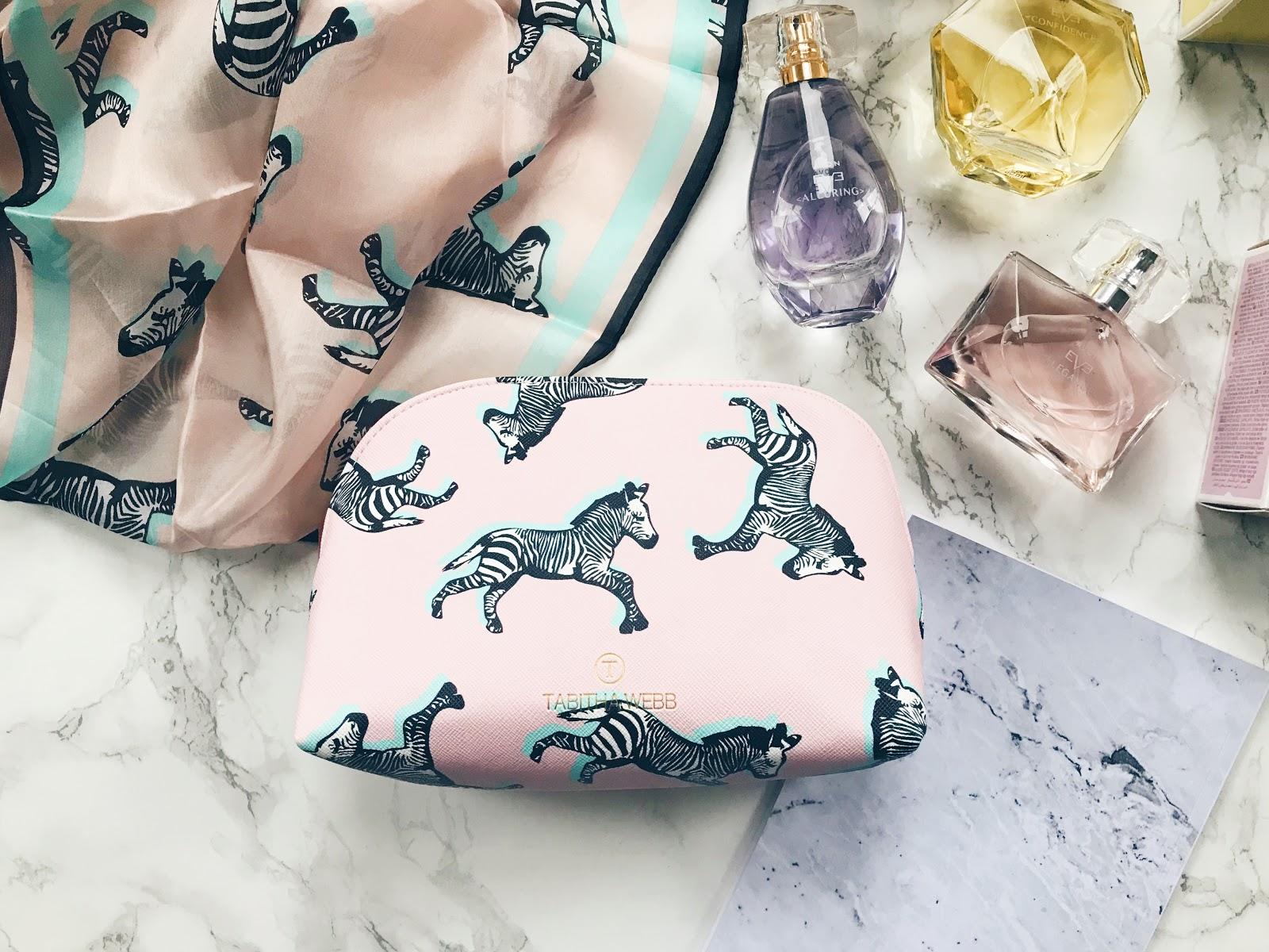 T by Tabitha Webb Zebra Print Cosmetics Bag