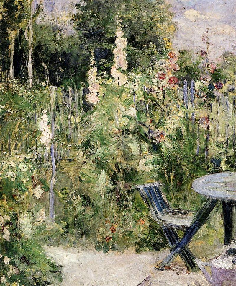 Roses Tremieres (Hollyhocks) Berthe Morisot · 1884