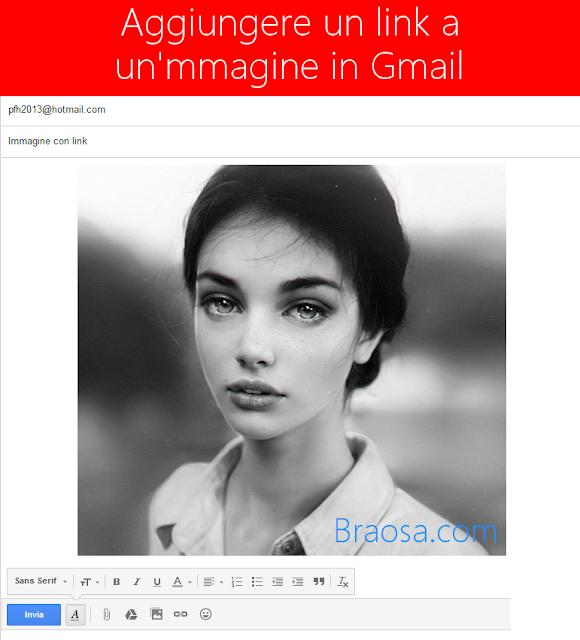 Come inserire un link in una foto o immagine in un messaggio  Gmail