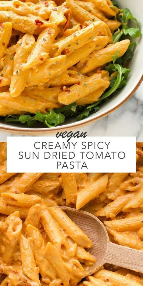Creamy Spicy Sun Dried Tomato Pasta