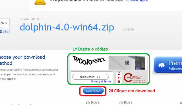 Passo 4 : Como baixar no uploaded