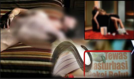 seorang wanita muda melakukan onani dengan menggunakan belut