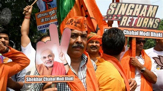 Indian Prime Minister Narendra Modi's Bharatiya Janata party takes commanding lead as India counts votes