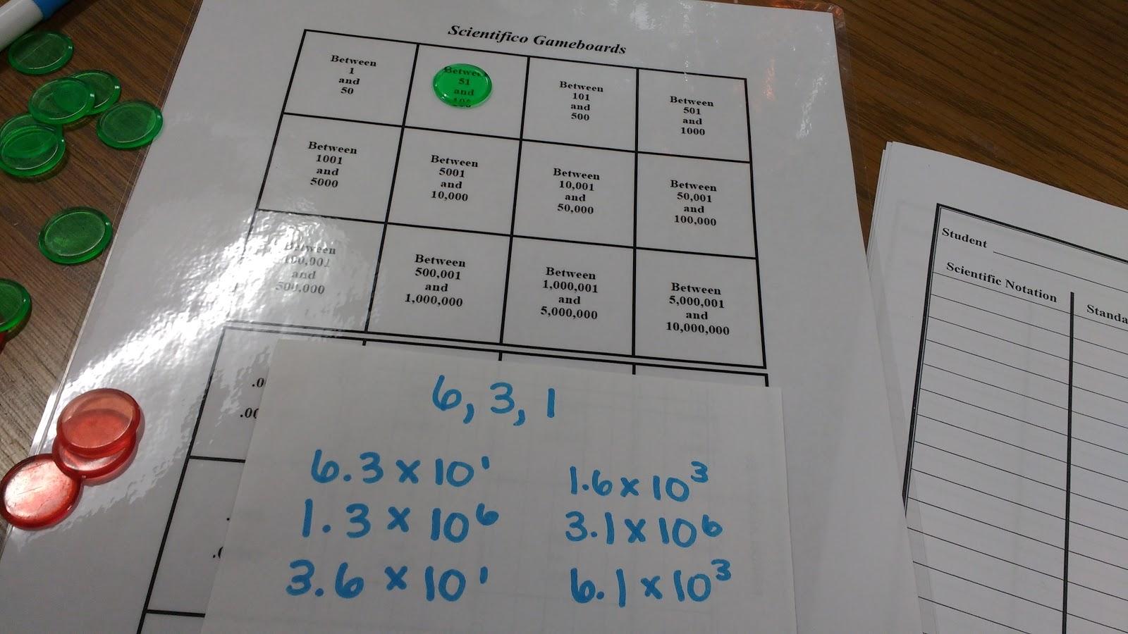 Math Love Scientific Notation Practice Activities
