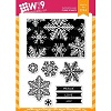 WPlus9 Snowflake Backdrops stamp set