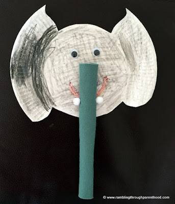 easy paper plate Elephant
