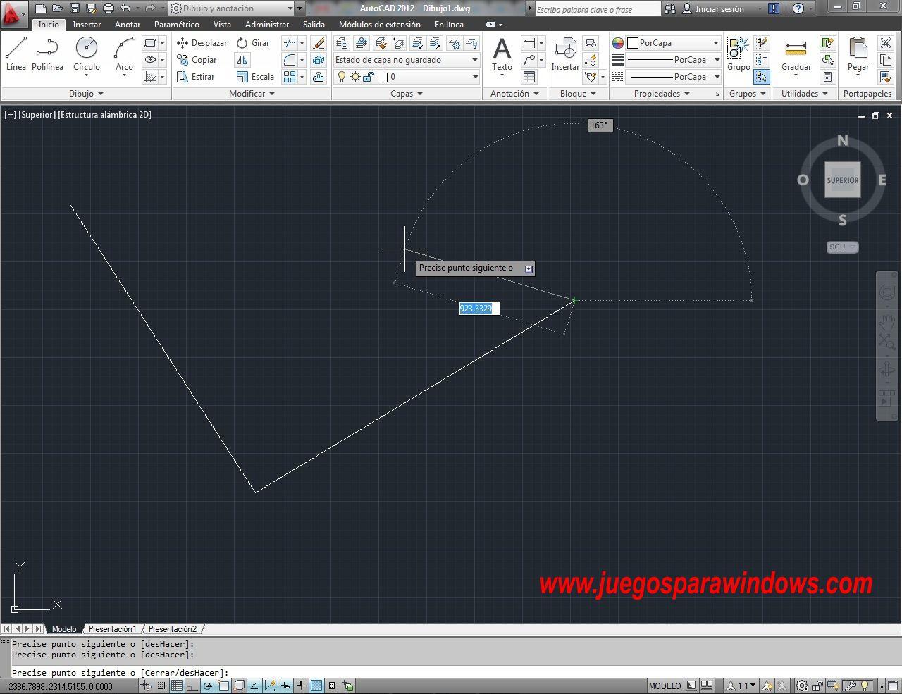 AutoCAD 2012 Español Ingles 32 64 Bits Windows Screenshot