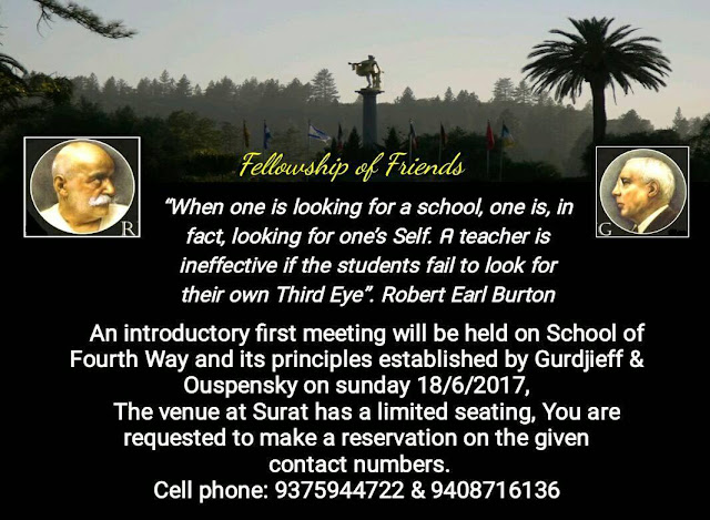 Fellowship of Friends Fourth Way School Living Presence recruiting Surat India