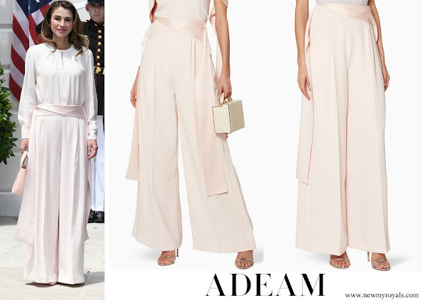 Queen Rania wore ADEAM Pink Tie Twist Pants