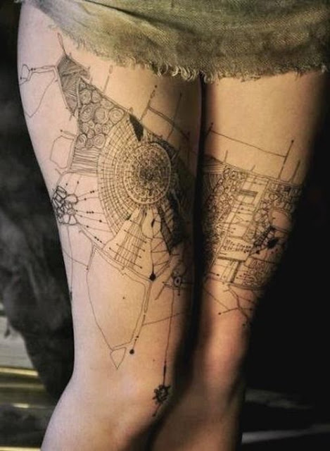 architecture tattoos design ideas