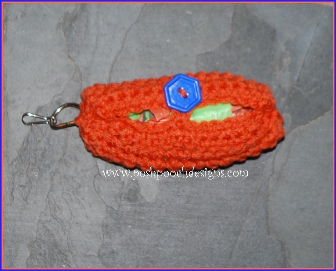 Crochet Bag Keeper Pattern : Posh Pooch Designs Dog Clothes: Clip-On Poo Bag Keeper ...