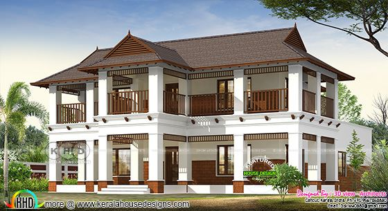 3254 square feet 4 bedroom traditional Kerala home design