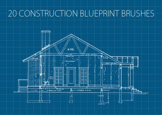 20 Construction Blueprint Brushes