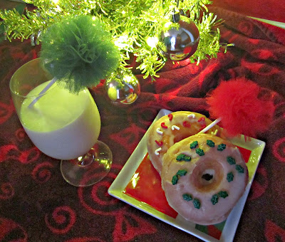 Christmas breakfast, Fizzy Party, Tulle poms