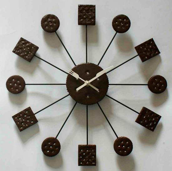 Aneka Model Jam Dinding Unik Untuk - Bentuk Biscuit Cocok Yang Cocok di  Dapur atau Ruang 5a8eb0ae7c
