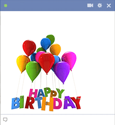 Birthday Balloons Facebook Sticker