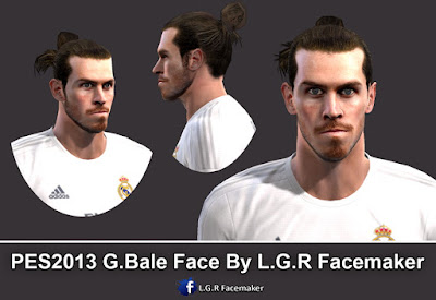 PES 2013 G.Bale Face By L.G.R Facemaker
