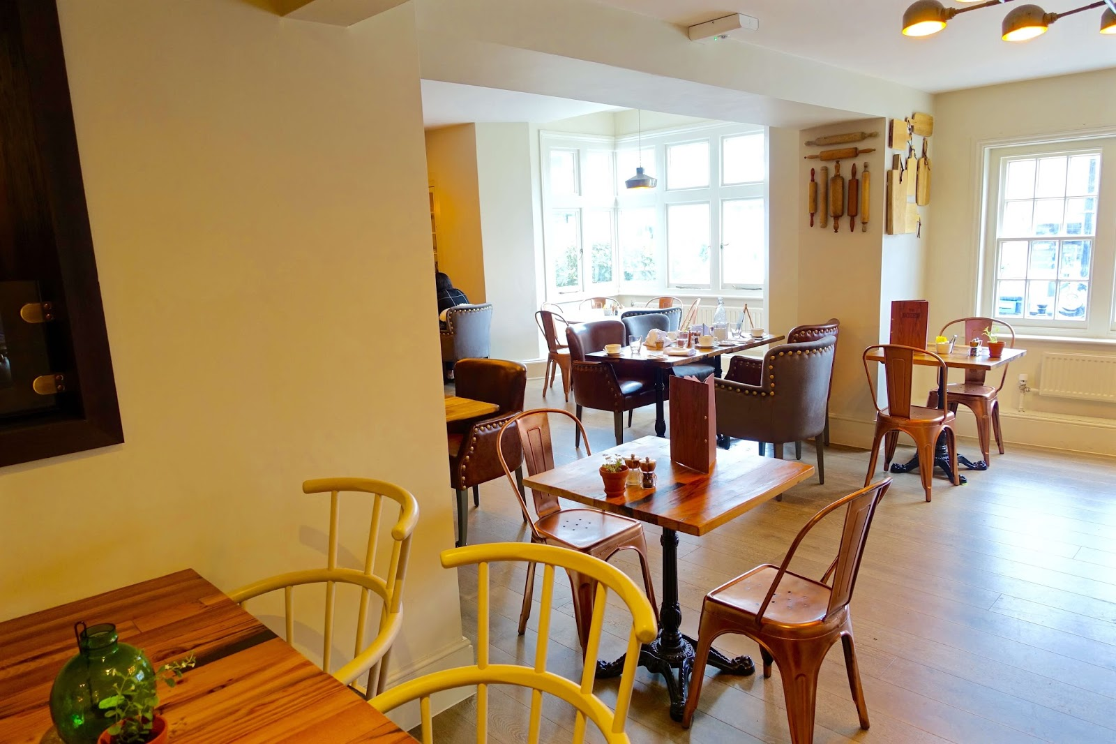 inside the new restaurant at the white horse in dorking