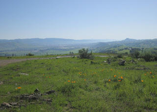 Looking south to the top of Country View Drive and the Santa Clara Valley, San Jose, California