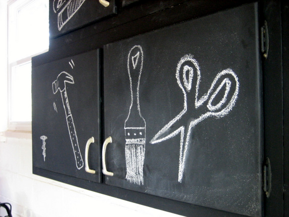 Chalk Painted Cabinets: Using Chalkboard Paint | DIY Playbook