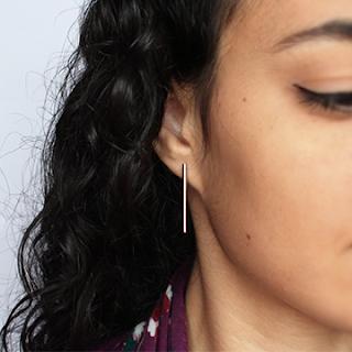 Tube bead earrings