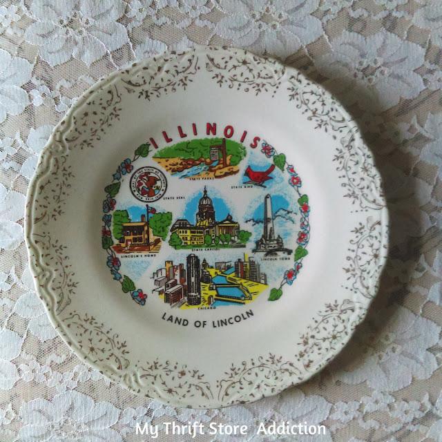 vintage Illinois state plate