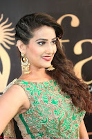 Manjusha in Beautiful Sleeveless Green Anarkali dress at IIFA Utsavam Awards 020.JPG