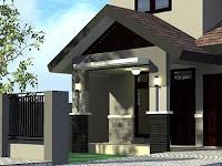 Model Tiang Teras Rumah Minimalis