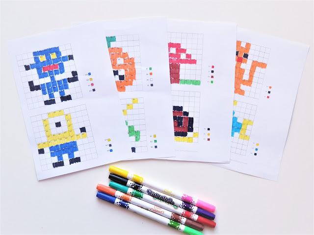 wzory dyktand graficznych z sylabami do pobrania