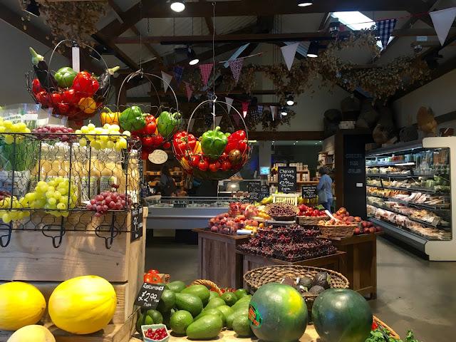 Inside Farndon Fields Farm shop near Market Harborough