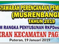Download Spanduk Musrenbangdes Tahun 2020 Format CDR