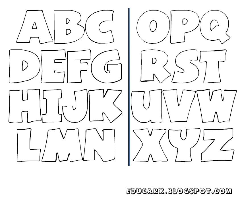 Modelo de letras infantil