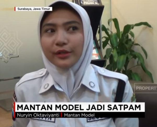Nuryin Oktaviyanti Mantan Model Menjadi Satpam