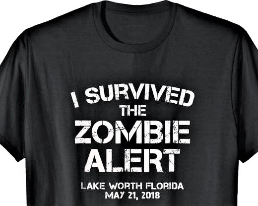 Post reporter McKenna Ross broke the Zombie news. Click on T-shirt: