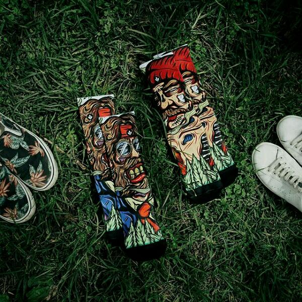 Model Kaos Kaki Stay cool Socks Wajah Sangar pria kekinian
