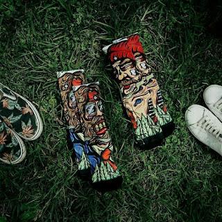 Model Kaos Kaki Stay cool Socks Wajah Sangar pria kekinian