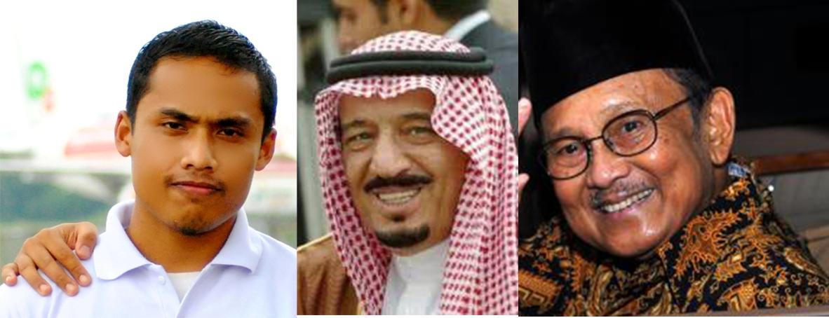 Raja Salman, BJ Habibie dan Mirwan Choky